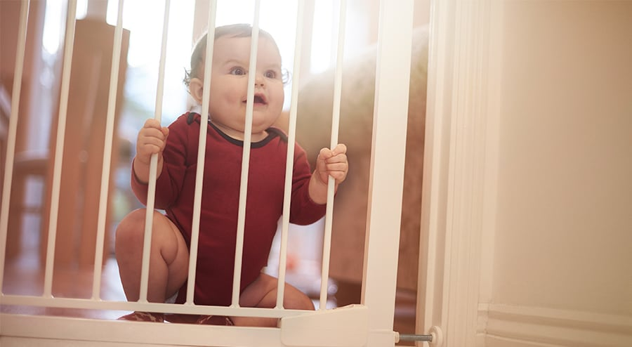 By Just Imagining Of The Child Going Up The Stairs And Rolling Sends  Shivers Down The Spine. Therefore, Retractable Baby Gates Are One Of The  Safety Tools ...